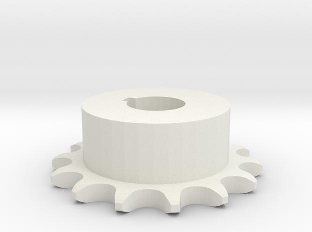 Pignone Per Catena Semplice ISO 04B-1 P6 Z14 in White Natural Versatile Plastic