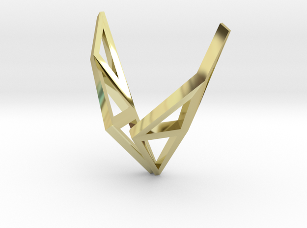 LONELY WINGS Origami Structure, Pendant