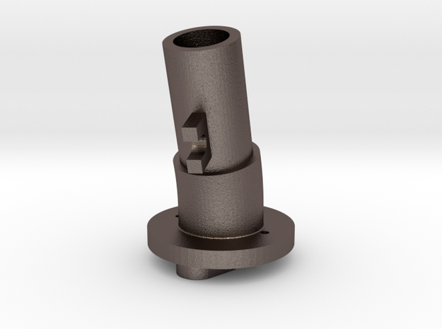 Thrustmaster tailpiece, 13° ang. 15°off. - M in Stainless Steel