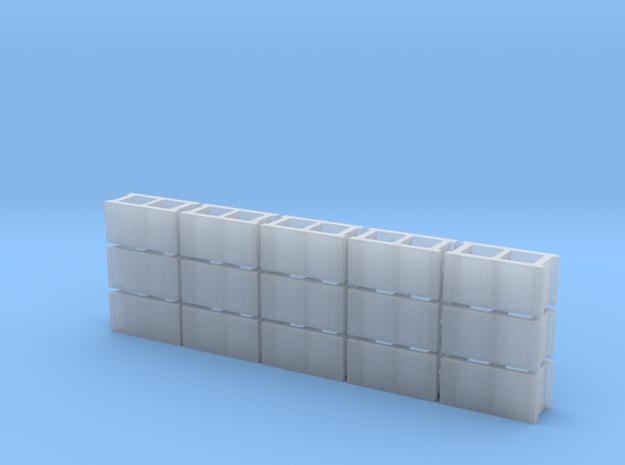 1/43 Scale 8x8x16 Cinderblocks in Smooth Fine Detail Plastic