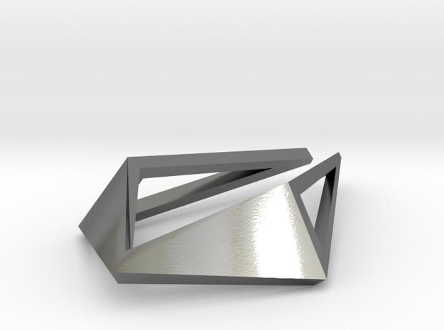 HIDDEN HEART Origami Opensolid, Pendant
