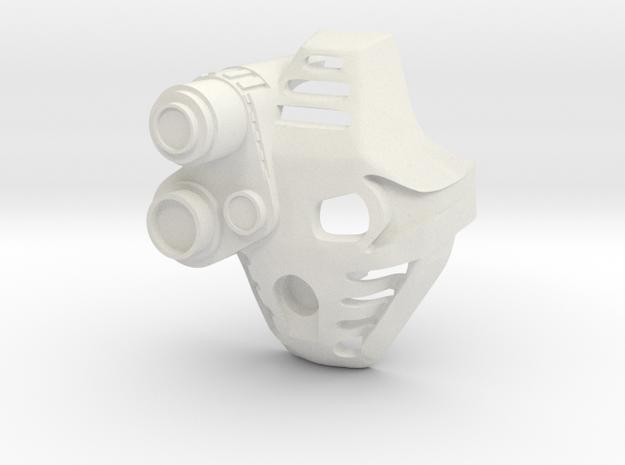 Kanohi Pakari With Lens in White Natural Versatile Plastic