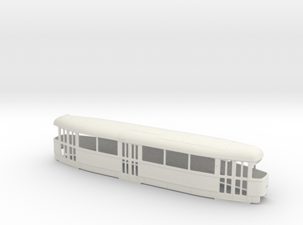 Tatra T1 Pantograph 0 Scale [body] in White Natural Versatile Plastic: 1:48