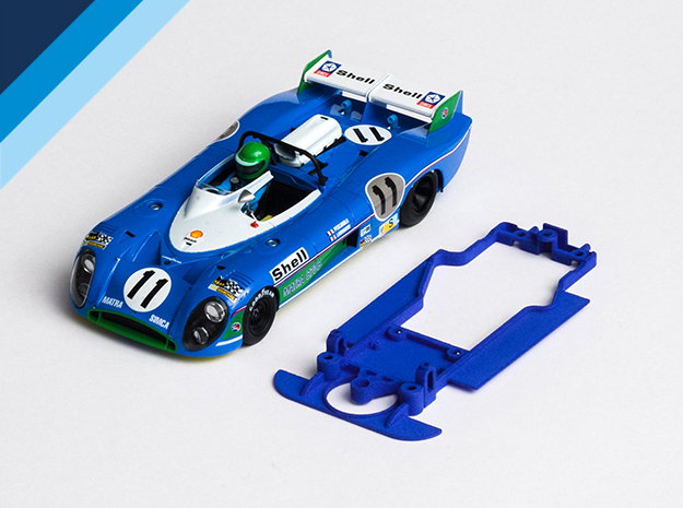 1/32 SRC Matra 670 Chassis for Slot.it pod in Blue Strong & Flexible Polished
