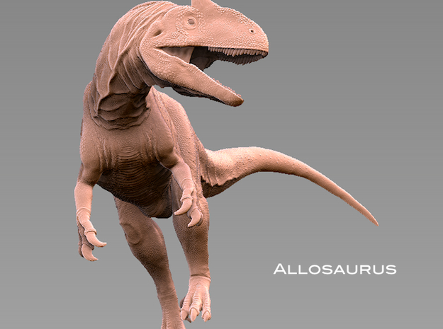 Allosaurus 1:72 scale  in White Strong & Flexible