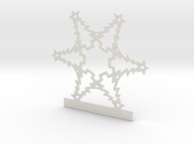 Customizable Christmas Tree Snowflake Ornament in White Natural Versatile Plastic