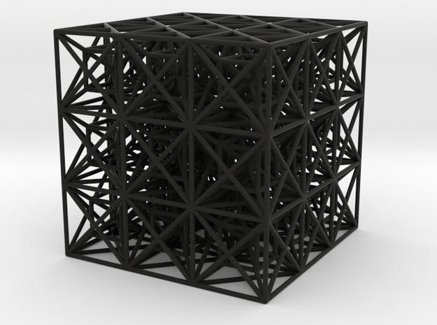 Zero Point Cube in Black Natural Versatile Plastic