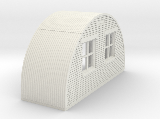 N-87-complete-nissen-hut-back-brick-16-36-1a in White Natural Versatile Plastic