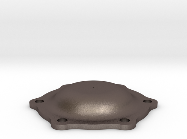 Rod Bearing Cover in Polished Bronzed Silver Steel