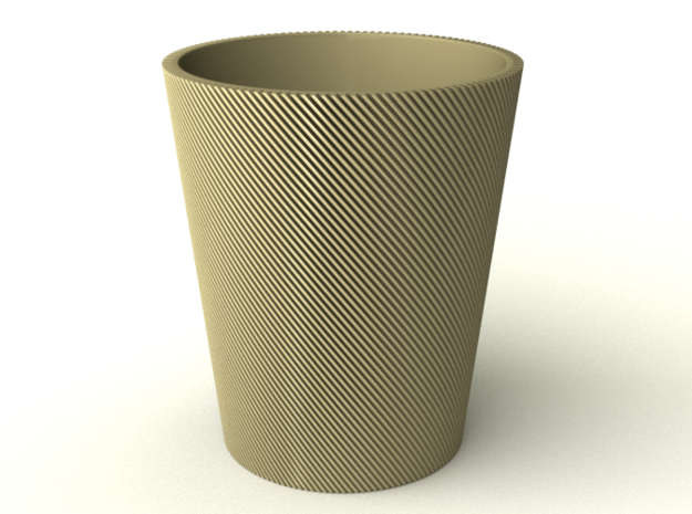 Spiral Cup in White Processed Versatile Plastic