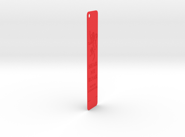 Lanister Bookmark in Red Processed Versatile Plastic: Medium