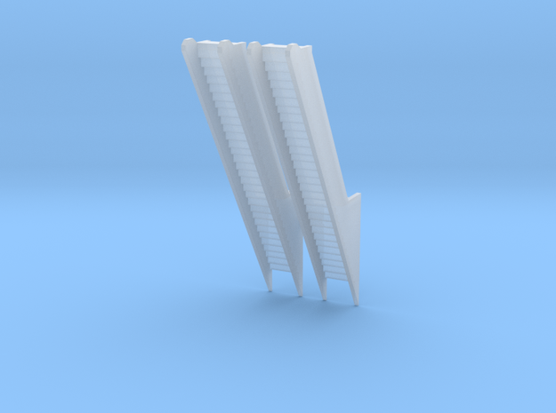 Escalators Double Print in Smooth Fine Detail Plastic