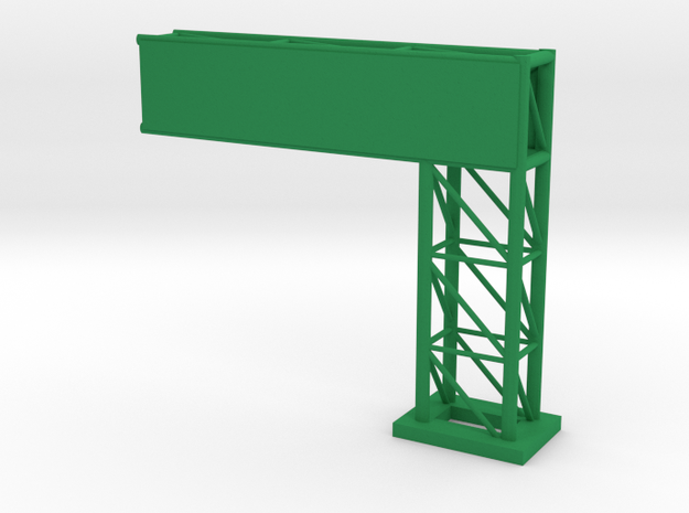 Pylon for signage - small version in Green Strong & Flexible Polished