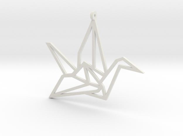 Crane Pendant S in White Strong & Flexible
