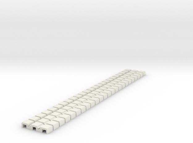 P-9stg-flexi-tram-track-100-x24-1a in White Natural Versatile Plastic