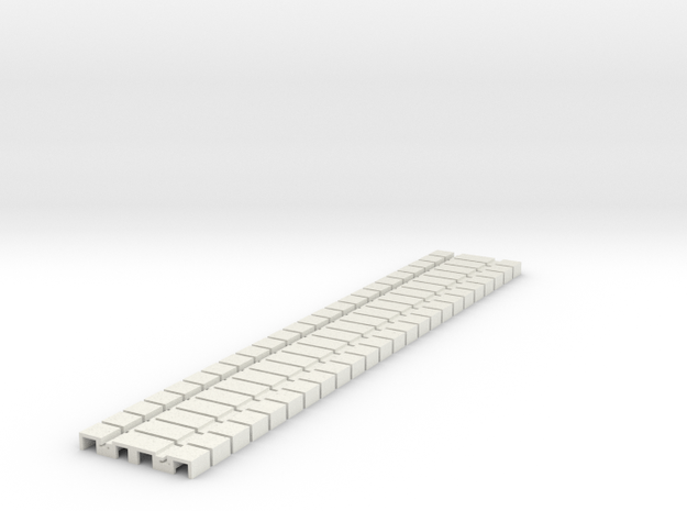 P-165stp-flexi-tram-track-100-pl-x24-1a in White Natural Versatile Plastic