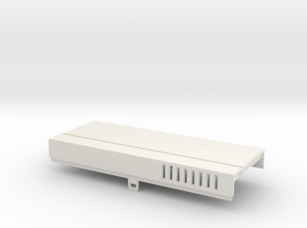 Amiga 1000 Front Expansion Cover in White Natural Versatile Plastic