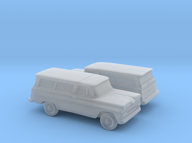 1/160 2X 1960-61  Chevrolet Suburban in Smooth Fine Detail Plastic