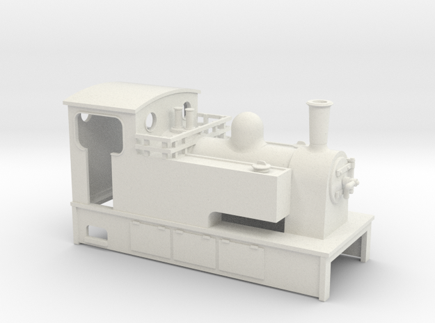 TTn3 Kerr stuart style tram loco  in White Strong & Flexible