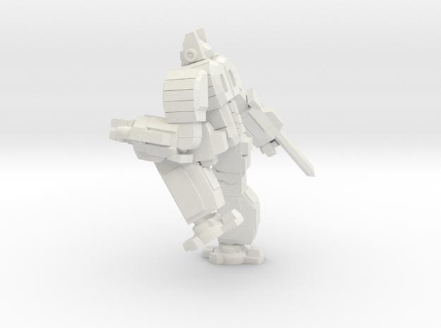Hoplite pose 3 in White Natural Versatile Plastic