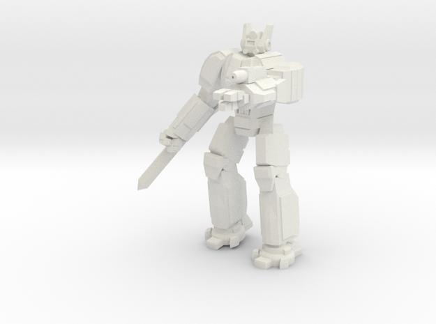 Hoplite pose 4 in White Natural Versatile Plastic