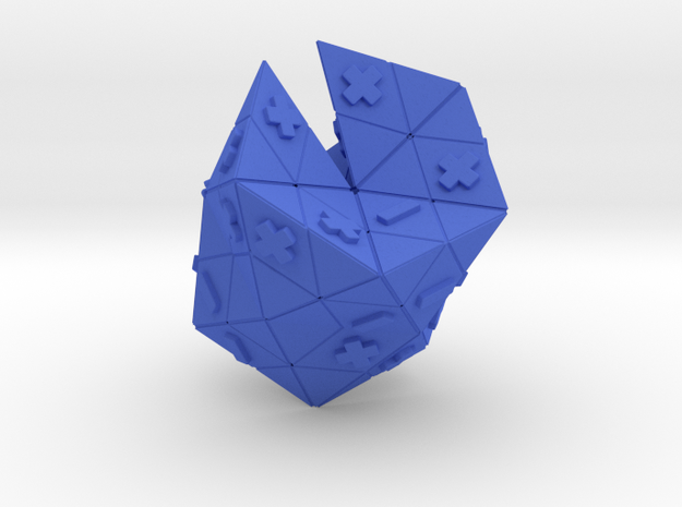 Deuteron in Blue Processed Versatile Plastic