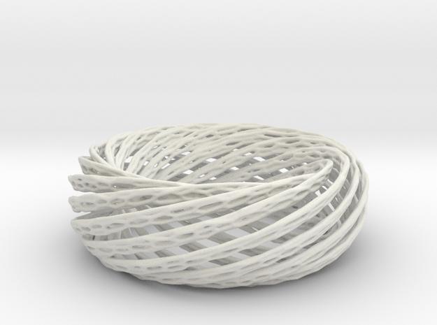 Spiral Bone Bracelet in White Natural Versatile Plastic