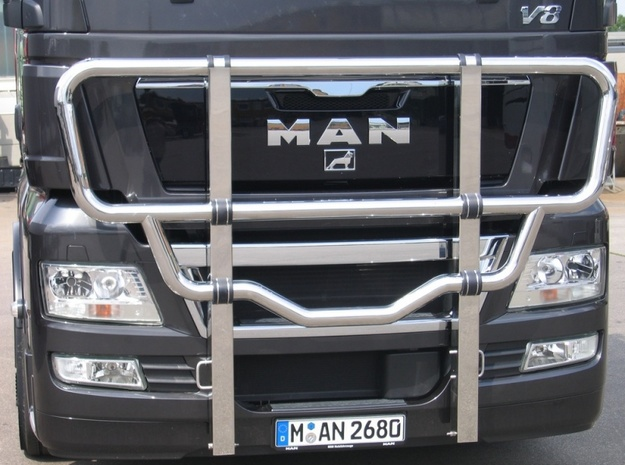 Scania Bull Bar - Type A in White Natural Versatile Plastic