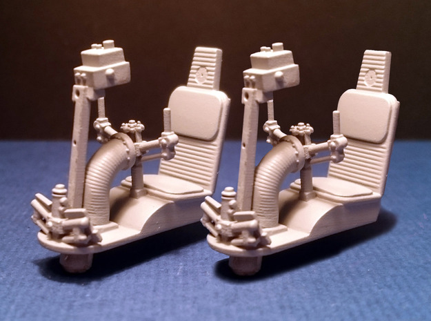 MILLENIUM DEAGO TURRET WELL SEAT SET 1/43