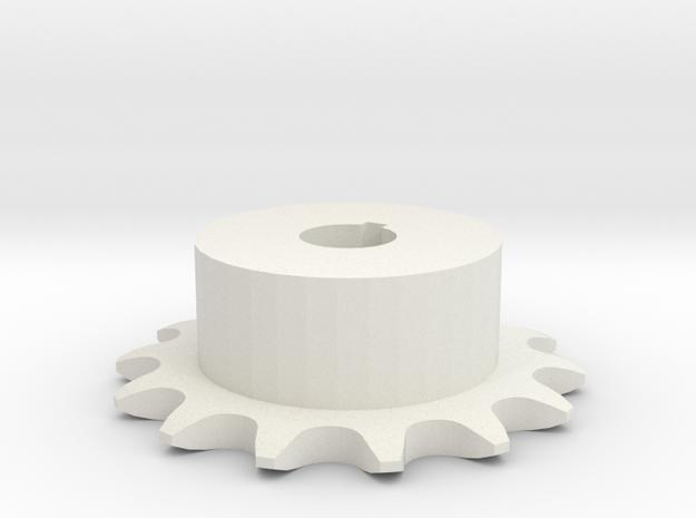 Chain sprocket ISO 05B-1 P8 Z14 in White Natural Versatile Plastic