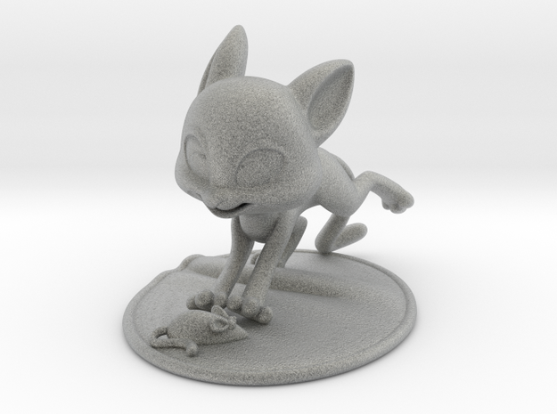 Cat Playing with Toy Mouse 3d printed