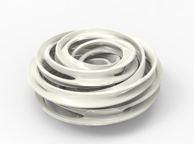 Cinquefoil Knot in White Processed Versatile Plastic