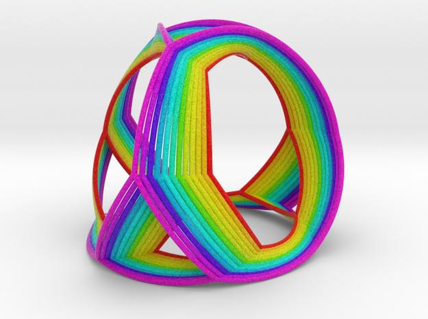 0408 Spherical Truncated Tetrahedron (d=12cm) #005 in Full Color Sandstone