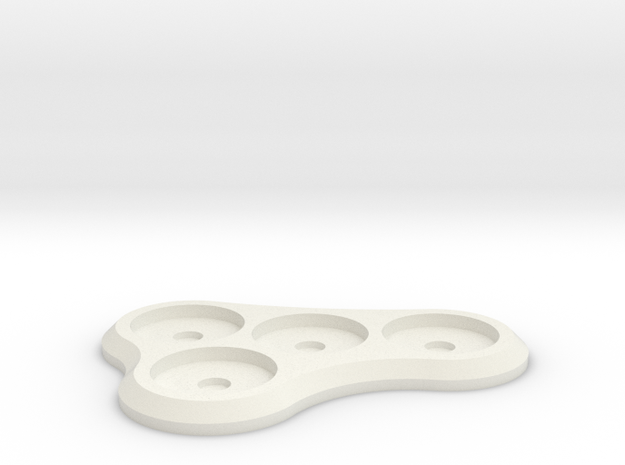 15mm 4-man Mag Tray 1 in White Natural Versatile Plastic