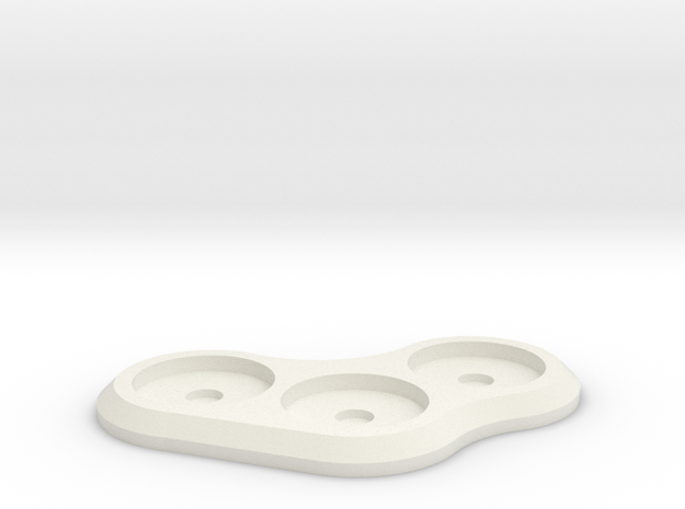 15mm 3-man MagTray 1 in White Natural Versatile Plastic