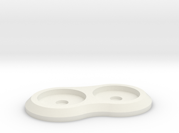 15mm 2-man Mag Tray in White Natural Versatile Plastic