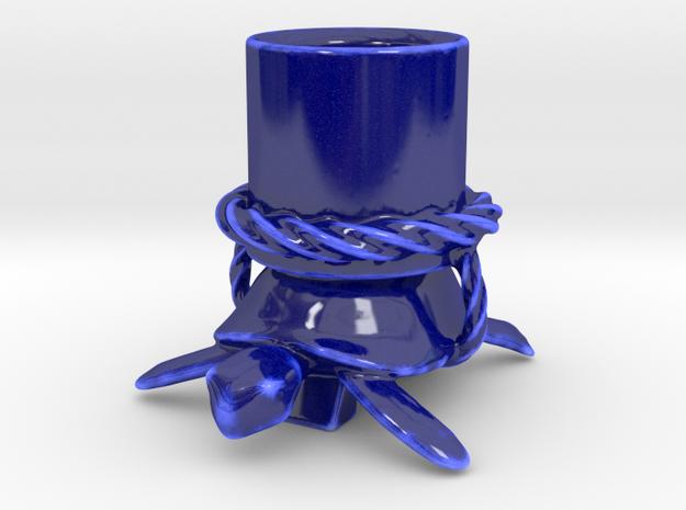Turtle Esspresso Cup in Gloss Cobalt Blue Porcelain
