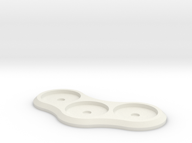 20mm 3-man Mag Tray 1 in White Natural Versatile Plastic