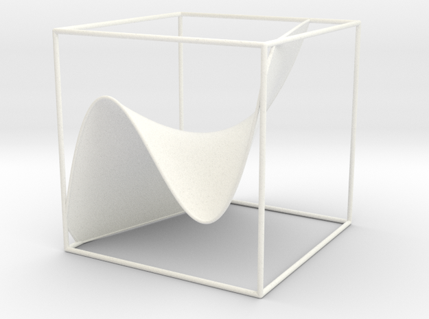 A 3d graph of cubic functions in White Processed Versatile Plastic