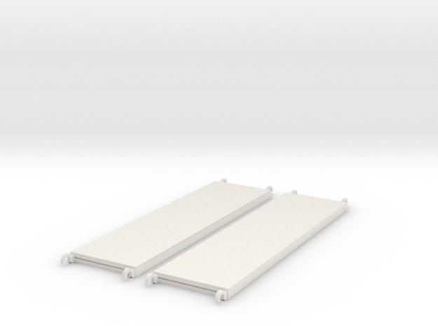 1:24 Walkboards 84x22 in White Natural Versatile Plastic