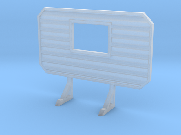1/87 HO headache rack with window in Smooth Fine Detail Plastic