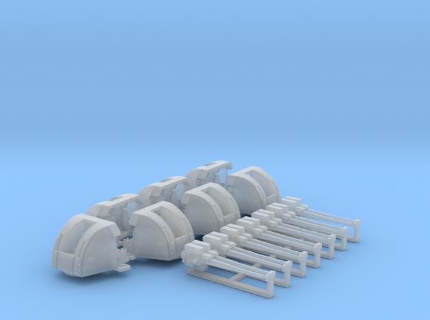 1/400 RN 4 Inch Twin MKXVI Gun (7) HMS Hood in Smoothest Fine Detail Plastic