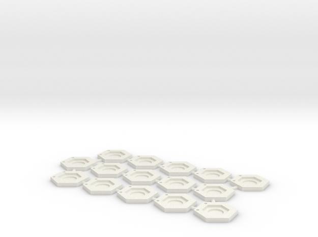 Hex Bases: Mark V in White Natural Versatile Plastic