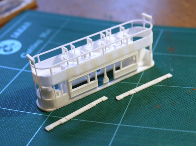 Eastbourne Tramway Car 6 in White Natural Versatile Plastic