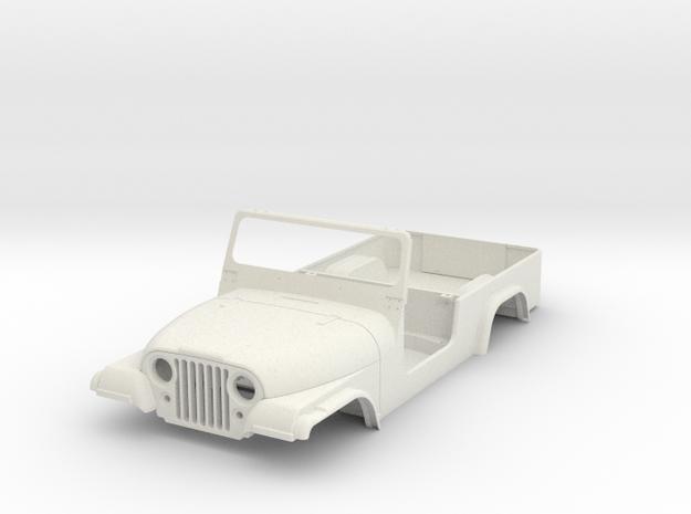 jeep cj8 scramble 1/9 scale in White Natural Versatile Plastic