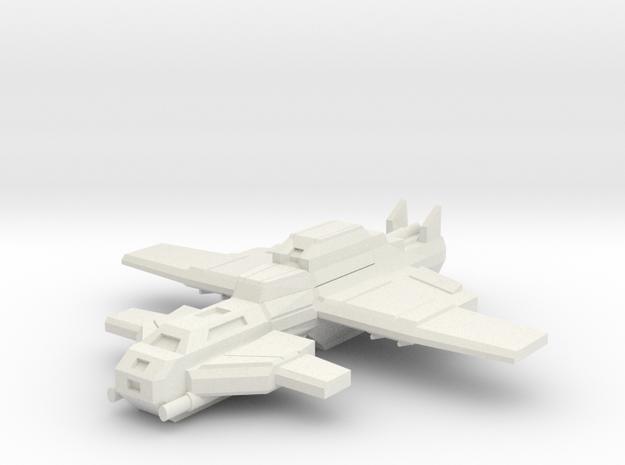 Furious Interceptor  in White Natural Versatile Plastic