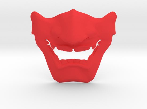 SamuraI Mask V1 Style  in Red Processed Versatile Plastic
