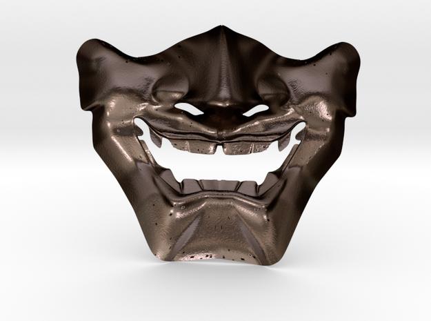 Samurai Mask High Quality in Polished Bronze Steel