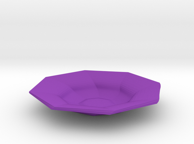 Sharp edges plate in Purple Processed Versatile Plastic