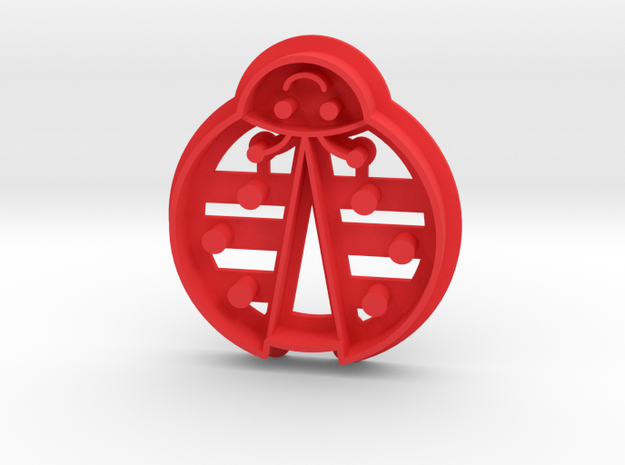 Ladybug Cookie Cutter in Red Strong & Flexible Polished